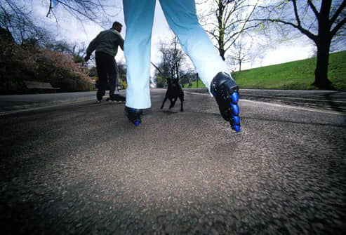 Exercising-With-Your-Dog-Rollerblading